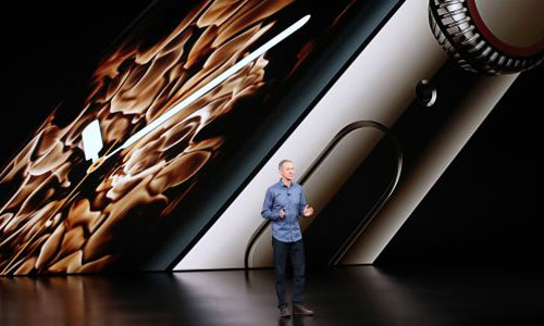 Jeff Williams, chief operating officer of Apple Inc., speaking during an Apple event
